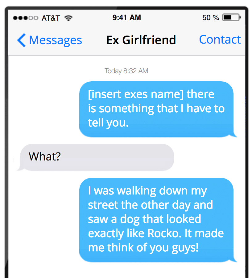 Things to text your ex